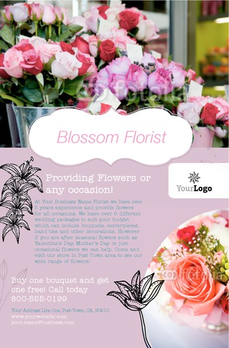 """Florist 5.5"""" x 8.5"""" Flyers by Ro Do"""