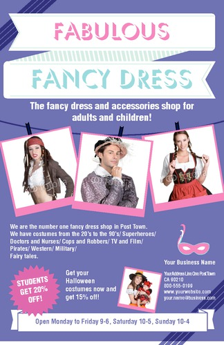 "Fancy Dress 5.5"" x 8.5"" Flyers by Ro Do"