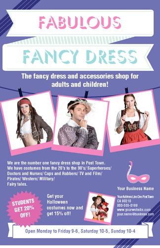 """Fancy Dress 5.5"""" x 8.5"""" Flyers by Ro Do"""