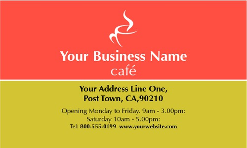 "Restaurant 2"" x 3.5"" Business Cards by Paul Wongsam"