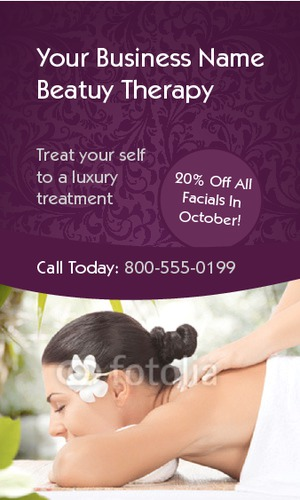 """Massage 2"""" x 3.5"""" Business Cards by Nickola O'Connor"""