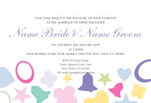 "Marriage 4"" x 6"" Wedding Invitations by YVONNE Hulse"