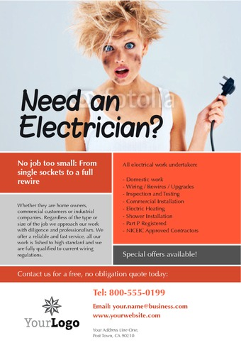 "Electrical 4"" x 6"" Flyers by Paul Wongsam"