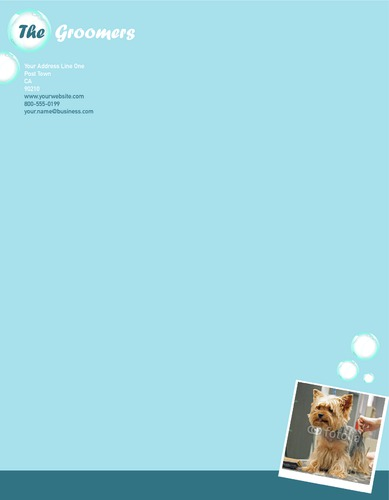 "Dog Groomers 8.5"" x 11"" Stationery by Ro Do"
