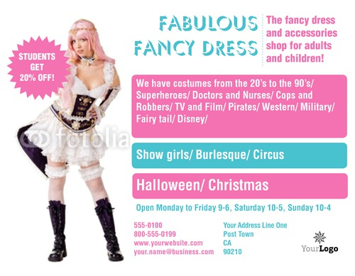 "Fancy Dress 8.5"" x 11"" Flyers by Rebecca Doherty"