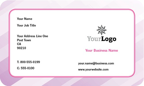 """Beauticians 2"""" x 3.5"""" Business Cards by Vaishali Patel"""