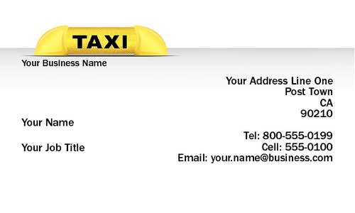 "Taxi 2"" x 3.5"" Business Cards by Neil Watson"
