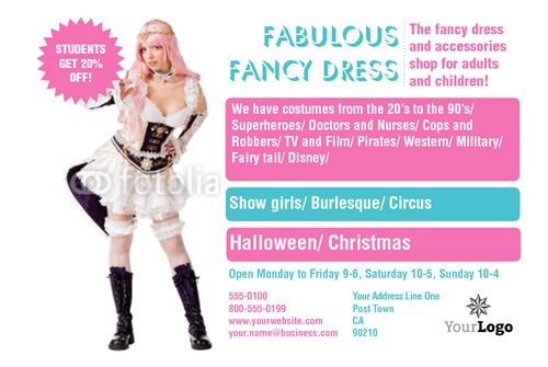"Fancy Dress 4"" x 6"" Flyers by Rebecca Doherty"