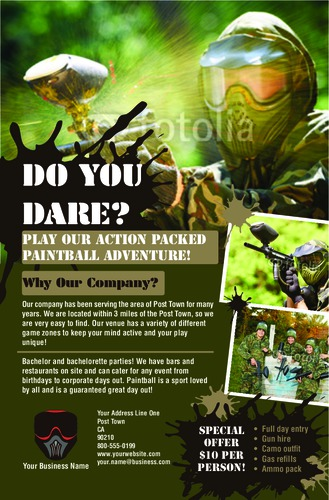 "Paintball 5.5"" x 8.5"" Flyers by Rebecca Doherty"