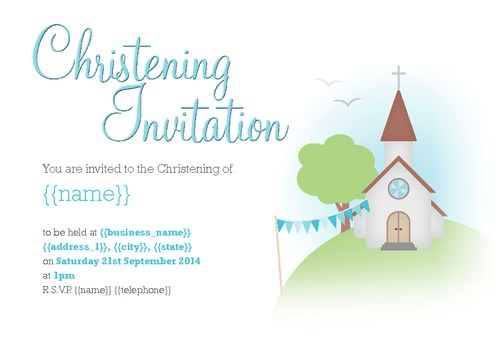 "Church 4"" x 6"" Invitations by Christopher Heath"