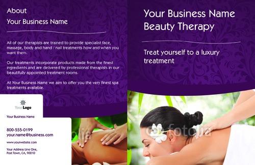 "Massage 11"" x 17"" Brochures by TemplateCloud.com"