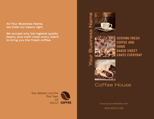 "Cafe 8.5"" x 11"" Brochures by TemplateCloud.com"