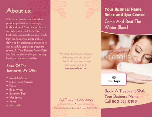 Beauty Salon  X  Brochures  PrintingCom
