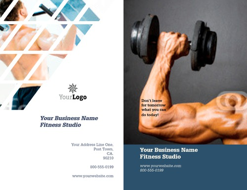 "Fitness 8.5"" x 11"" Brochures by TemplateCloud.com"