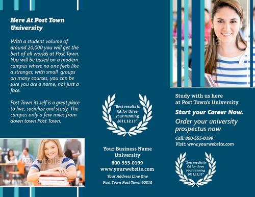 """School 8.5"""" x 11"""" Brochures by TemplateCloud.com"""