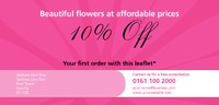 Florist 1/3rd A4 Leaflets by Templatecloud