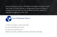 Learning To Drive Business Card  by Templatecloud