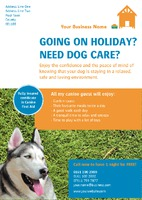 Dog Care A5 Flyers by Templatecloud