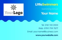 Swimming Lessons Business Card  by Templatecloud