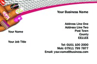 Nails Business Card  by Templatecloud