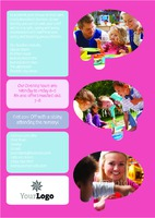 Nursery A4 Leaflets by Templatecloud