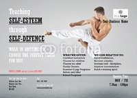 Martial Arts A6 Flyers by Templatecloud