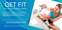 Fitness 1/3rd A4 Leaflets by Templatecloud