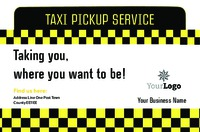 Taxi Business Card  by Templatecloud
