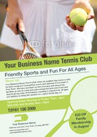 Tennis A4 Leaflets by Templatecloud