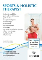 Massage A5 Flyers by Templatecloud