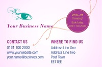 Salon Business Card  by Templatecloud