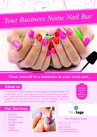 Salon A4 Leaflets by Templatecloud