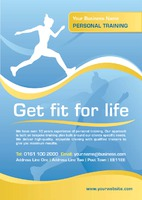 Fitness A5 Leaflets by Templatecloud