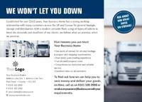 Logistics A6 Leaflets by Templatecloud