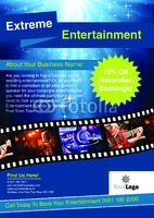Entertainer A4 Leaflets by Templatecloud