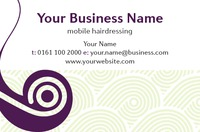 Beauty Salon Business Card  - Front