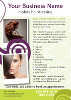Beauty Salon A6 Flyers by Templatecloud