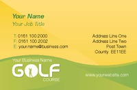 Golf Business Card  by Templatecloud