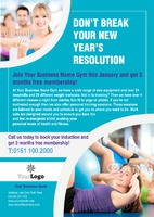 Gym A4 Leaflets by Templatecloud