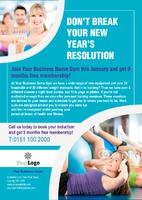 Gym A5 Leaflets by Templatecloud