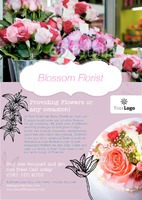Florist A5 Leaflets by Templatecloud