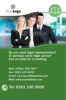 Solicitors Business Card  by Templatecloud