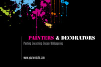 Painters and Decorators Business Card  by Templatecloud