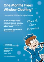 Window Cleaning A5 Flyers by Templatecloud