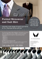 Suit Hire A4 Flyers by Templatecloud