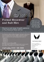 Suit Hire A6 Flyers by Templatecloud