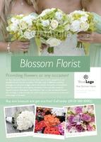 Florist A6 Leaflets by Templatecloud
