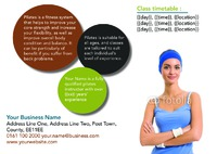 Fitness A5 Flyers by Templatecloud