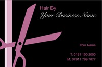 Hairdresser Business Card  by Templatecloud