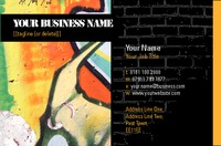 Artists Business Card  by Templatecloud